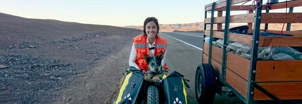 Lucy Barnard walks length of world